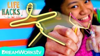 Paperclip Slingshot + Other Anti-Boredom Hacks | LIFE HACKS FOR KIDS