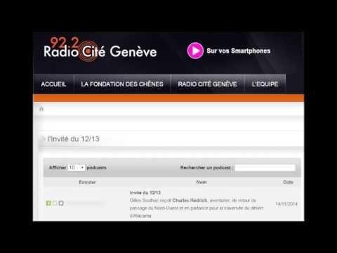 14.11.14 - Radio Cité Genève, Charles Hedrich Invité du 12h/13h