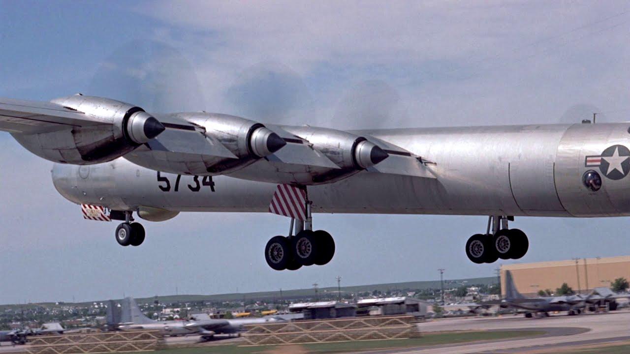 B 36 takeoff and landing Re edit in 4 K!
