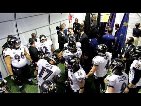 Ravens Inside The Tunnel Before Superbowl Introduction