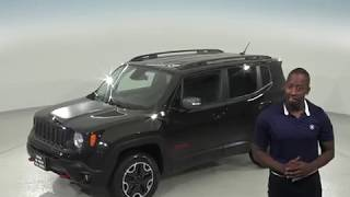 G97389TR - Used, 2017 Jeep Renegade, Trailhawk, 4WD, Black, Test Drive, Review, For Sale -