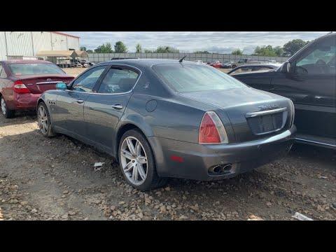 insurance-auto-auctions-walk-around-+-cheap-2006-maserati-quattroporte-$7000!