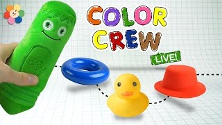 Learn Colors with Colorful Toys and Color Crew | Colors For Kids | Color Crew Live | BabyFirst TV