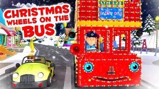 Christmas Wheels On The Bus | X'mas Nursery Rhymes | Songs for Babies