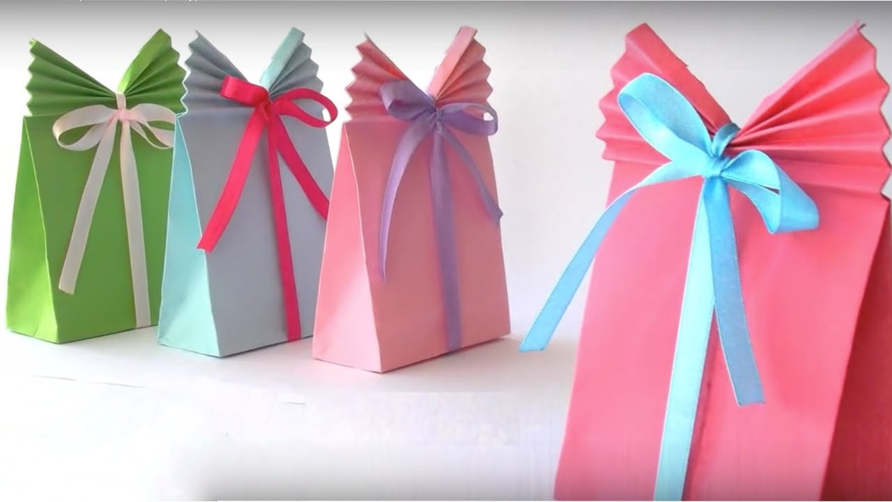 How To Make Beautiful Paper Gift Bag Paper Bag Origami