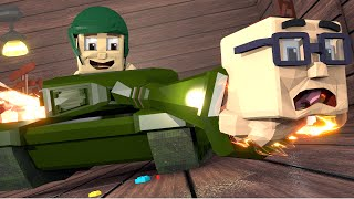Minecraft | WHO'S YOUR DADDY? Baby + Tank = WW3! (Baby Drives Tank)