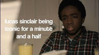 lucas sinclair being iconic for a minute and a half