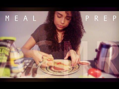 | ASMR | 🍽 Meal Prep *TURKEY SANDWICH* | Whispering | Chewing |