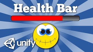How to create a simple UI health bar for a character in Unity game. Easy tutorial.