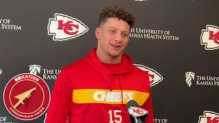 Patrick Mahomes says throwing hand feels better (NFL Week 15 2019)