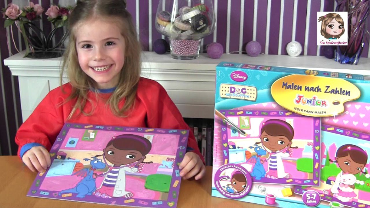 Malen Nach Zahlen Doc Mcstuffins Ravensburger Junior Edition Youtube