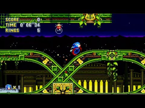 Sonic Mania: Stardust Speedway Zone Act 1 (Sonic) [1080 HD]
