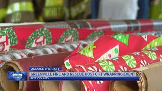 Greenville Fire/Rescue staff wrap gifts to raise money for 'Operation Santa Claus'