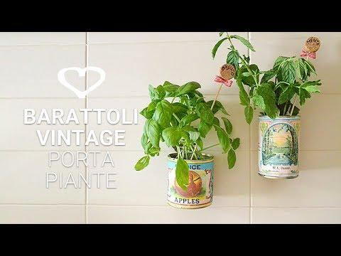 Tutorial come realizzare dei vasi porta piante aromatiche - Porta piante aromatiche ...