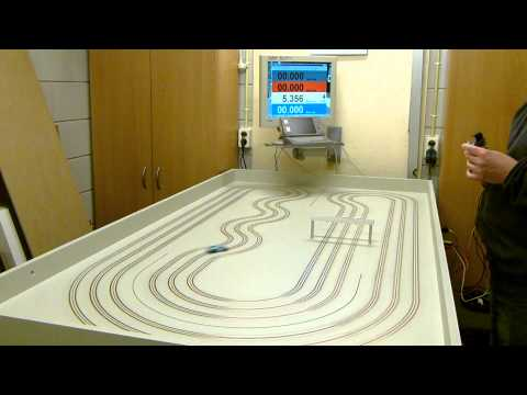 ho-afx-mega-g-slot-car-on-a-routed-copper-taped-mdf-track!