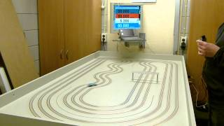 HO afx mega G slot car on a routed copper taped MDF track!