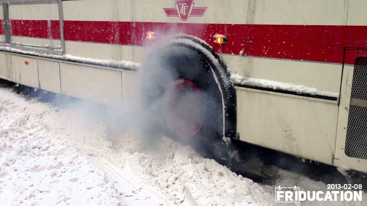 All Weather Tires >> Toronto Snow Storm - TTC Bus Burnout! - YouTube