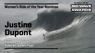 Justine Dupont at Nazaré | WOMEN'S RIDE OF THE YEAR AWARD NOMINEES - Red Bull Big Wave Awards