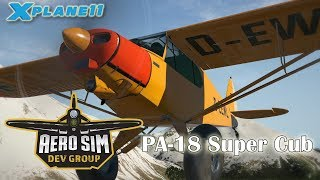 Aerosim Dev Group Pa-18 Super Cub For X-plane 11