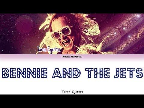 TARON EGERTON - 'BENNIE AND THE JETS' (COLORED LYRICS/INTERLUDE/VISUALISER)
