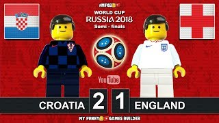 World Cup 2018 Semi-finals • Croatia vs England 2-1 • 11/07/2018 All Goals Highlights Lego Football