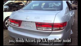 2004 04 Honda Accord parts AUTO WRECKER RECYCLER anhdonline.com Acura used