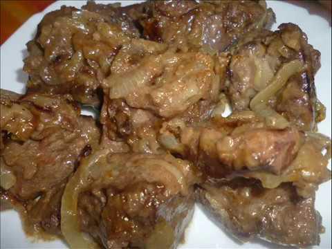 Самая вкусная жареная говяжья печень с луком