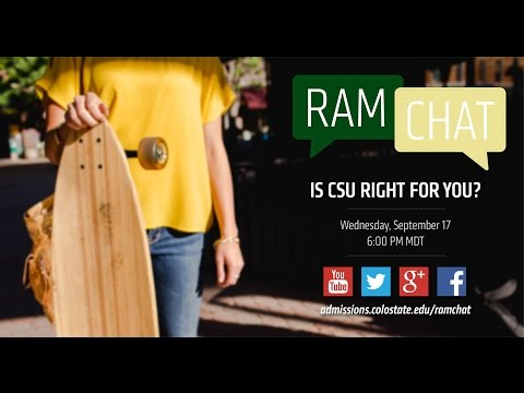 Is Colorado State right for you? | A Colorado State University #RamChat