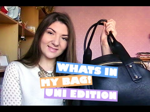 What's In My Bag! University Edition   Lizzie Gines