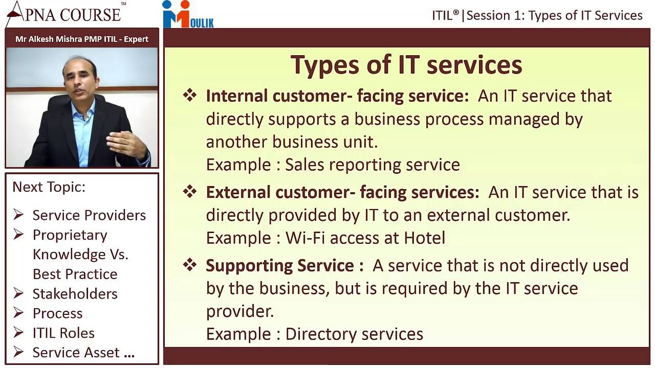 Types of it services it infrastructure library foundation youtube types of it services it infrastructure library foundation 1betcityfo Images
