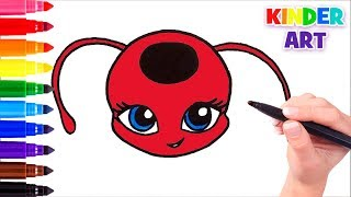 Как нарисовать Тикки из Леди Баг | How to draw Tikki from MIRACULOUS LADYBUG