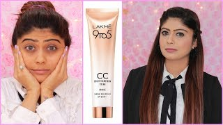 5 Minute Office Makeup Tutorial using LAKME CC CREAM | SUMMER Step By Step Office Makeup thumbnail
