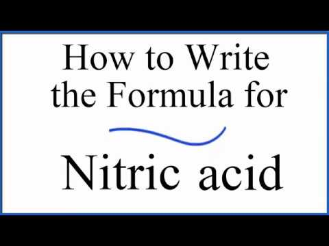 How To Write The Formula For Nitric Acid Hno3 Youtube