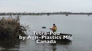 Tetra-Pod trailer boat in use during Galway floods, December 2015.