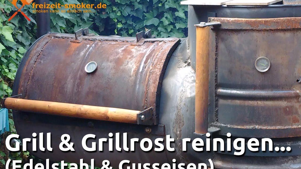 Rauchfreier Holzkohlegrill Reinigen : Grill grillrost reinigen howto anleitung youtube