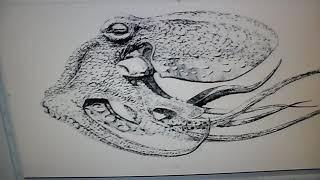 300DPI Octopus Stencil...