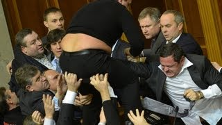 Ukraine Parliament Turns into Brawl, Groin-Punches Ensue