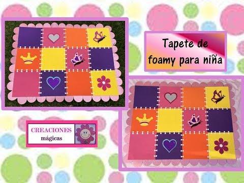♥♥ Como elaborar tapete de foamy para niños-Creaciones mágicas♥♥
