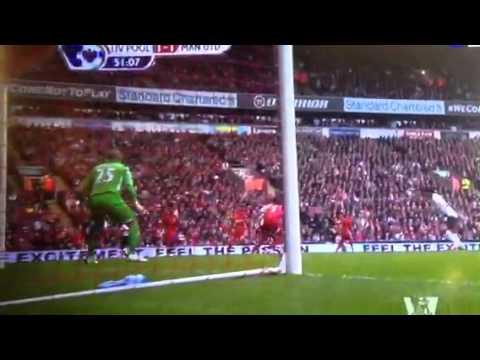 Rafael da Silva amazing goal VS Liverpool 23.09.12