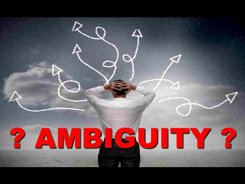 Dealing With Ambiguity