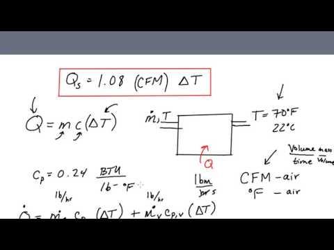 Sensible Heat Formula for HVAC Engineers - Where does Q=1 08