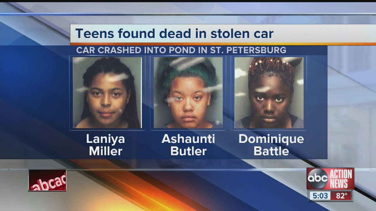 3 teen girls inside stolen car pulled from pond