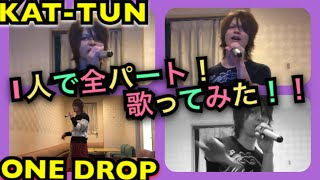 KAT-TUN/ONE DROP 1人で全パート歌ってみた  /  I tried to sing all the parts alone