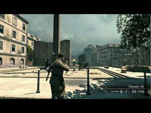 Sniper Elite V2 Longest Head Shot Possible?