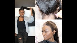 16 inch FULL LACE WIG to 22 inch ponytail!