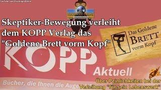 """Skeptiker-Bewegung verleiht dem KOPP Verlag das """"Goldene Brett vorm Kopf"""" 2014 für sein Lebenswerk"""