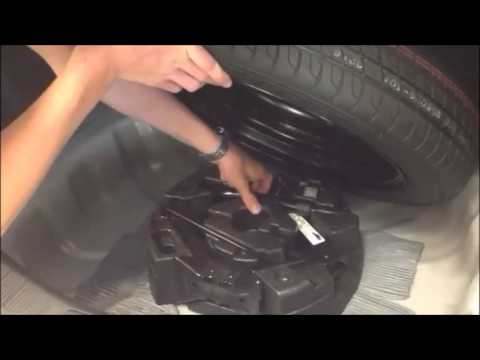 techbytes ford fusion spare tire - youtube