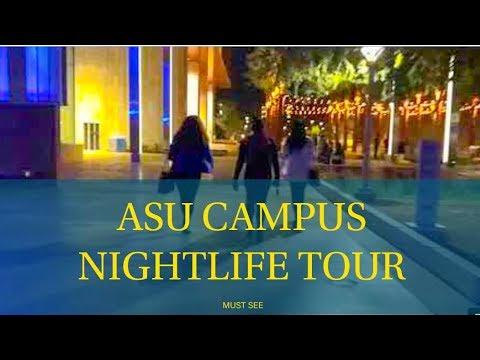 NIGHTLIFE TOUR AT ARIZONA STATE UNIVERSITY CAMPUS MUST SEE VLOG!!!