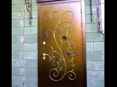 Входная металлическая дверь с ковкой, кованые розы рисунок узор идеи дизайна