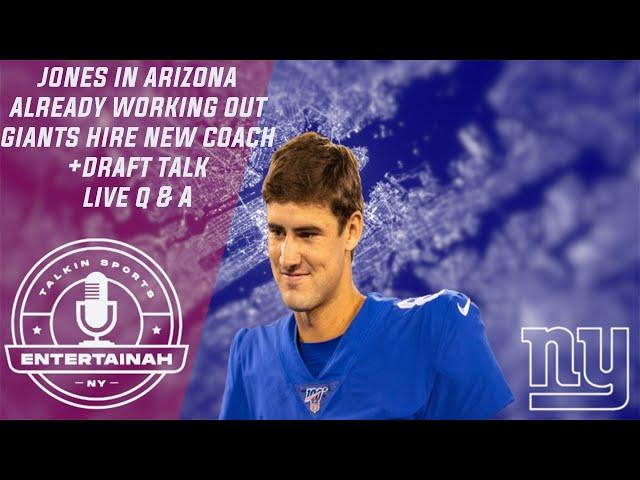New York Giants | Live Giants Talk- Jones already in Ariz working out w WR + New Coach & Draft talk